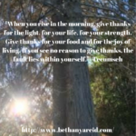 What will you be thankful for?